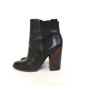 Banana Republic Block Heel Leather Ankle Boots